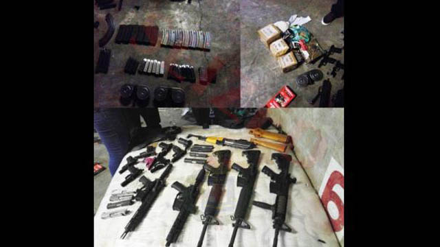 Weapons Seized at Kingston Wharves