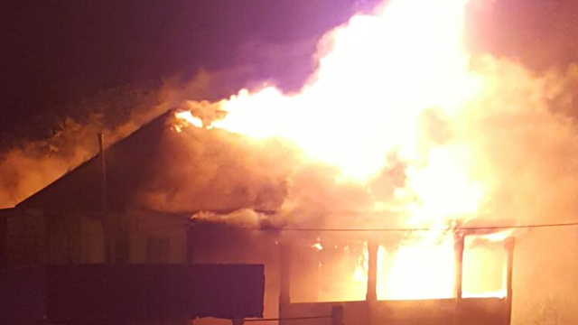 Brooks Service Center goes up in Flames